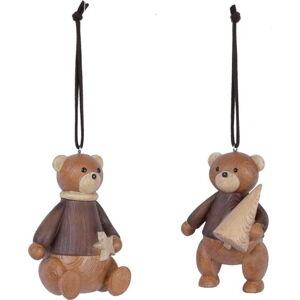 Sada 2 hnědých závěsných vánočních dekorací Ego Dekor Bears