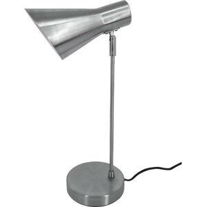Šedá stolní lampa z broušeného kovu Leitmotiv Beaufort