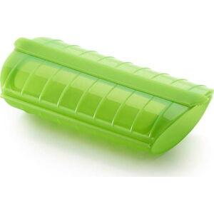 Zelená silikonová nádoba pro vaření v páře Lékué Steam Case