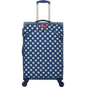 Modré zavazadlo na 4 kolečkách Lollipops Jenny, výška 67cm