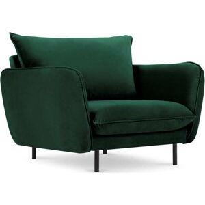 Zelené sametové křeslo Cosmopolitan Design Vienna