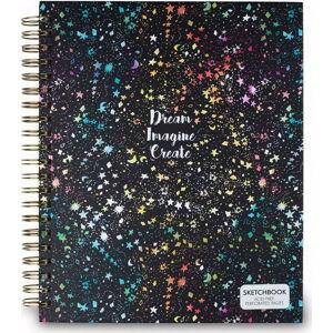 Černý zápisník Tri-Coastal Design Dreams, 96 stránek