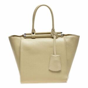 Béžová kožená kabelka Mangotti Bags