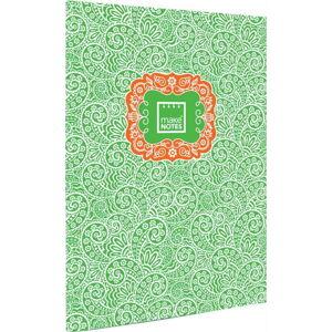 Zelený osobní organizér A4 Makenotes Paisley One, 40 listů