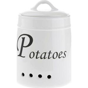 Bílá keramická dóza na brambory Dakls, 4120ml