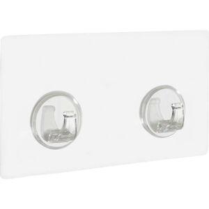 Sada 2 transparentních nástěnných háčků Wenko Static-Loc® Strip