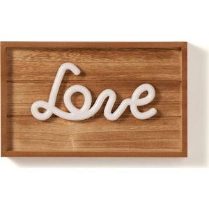 Světelná dřevěná dekorace Tomasucci Love