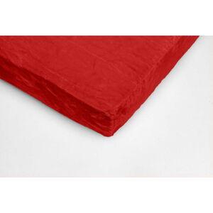 Červené mikroplyšové prostěradlo My House, 90 x 200 cm
