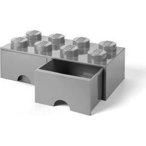 Šedý úložný box se dvěma šuplíky LEGO®