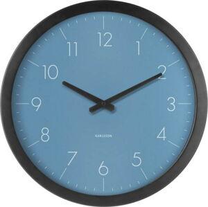 Modré nástěnné hodiny z jedlového dřeva Karlsson Dainty