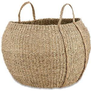 Úložný košík z mořské trávy Nkuku Rundi, ø 56 cm