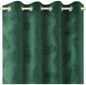 Zelený závěs se sametovým povrchem AmeliaHome Peacock,140x250cm