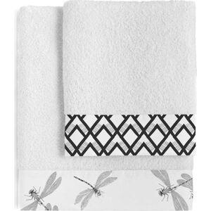 Sada 2 bavlněných ručníků Blanc Estuary