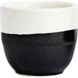 Černo-bílý kameninový šálek ÅOOMI Luna, 200 ml