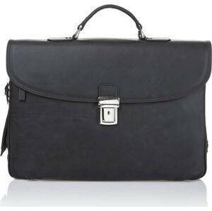 Černá pánská taška z telecí kůže Ferruccio Laconi Brief