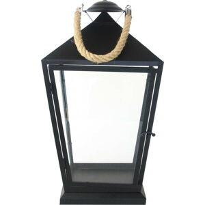 Černá lucerna Esschert Design Classical,výška45,6cm