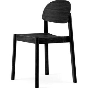 Černá jídelní židle z dubového dřeva EMKO Citizen Oval