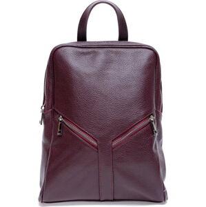 Vínový kožený batoh Roberta M