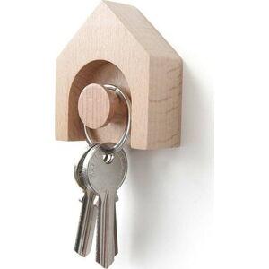 Věšák na klíče z bukového dřeva Qualy&CO Hauss