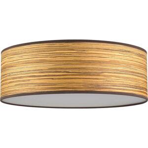Hnědé stropní svítidlo z dřevěné dýhy Bulb Attack Ocho XL, ⌀ 45 cm