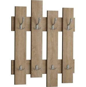 Nástěnný věšák v dekoru dubového dřeva Wave Oak