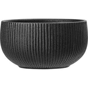 Černá miska z kameniny Bloomingville Neri,ø14,5cm
