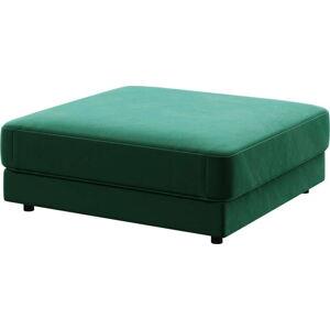 Tmavě zelená podnožka devichy Laure, 112x112cm