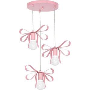 Růžové závěsné svítidlo Emma Tres