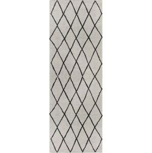 Světle šedý běhoun Elle Decor Passion Abbeville, 80 x 200 cm