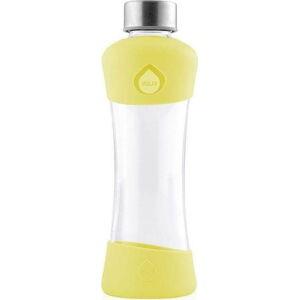 Žlutá skleněná láhev z borosilikátového skla Equa Active Lemon, 550ml