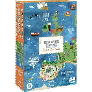 Velké puzzle světadíly Londji, 200 dílků
