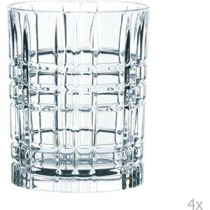 Sada 4 sklenic na whisky z křišťálového skla Nachtmann Square Whiskey Set, 345 ml