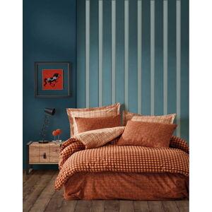 Oranžové povlečení na dvoulůžko z ranforce bavlny Cotton Box Rane,240x260cm