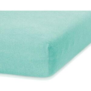 Mátově zelené elastické prostěradlo s vysokým podílem bavlny AmeliaHome Ruby, 160/180 x 200 cm