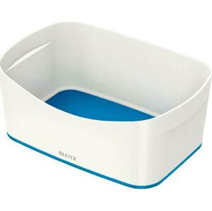 Bílo-modrý stolní box Leitz MyBox, délka 24,5 cm
