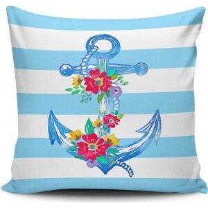Polštář s příměsí bavlny Cushion Love Navy Anchor, 45 x 45 cm