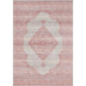 Světle červený koberec Nouristan Carme, 200 x 290 cm
