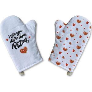 Sada 2 bavlněných kuchyňských rukavic Butter Kings Love me more