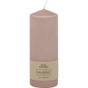 Pudrově růžová svíčka Baltic Candles Eco Top, výška 18cm