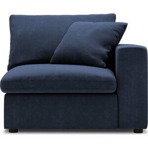 Tmavě modrá rohová část modulární pohovky Windsor & Co Sofas Galaxy, pravý roh