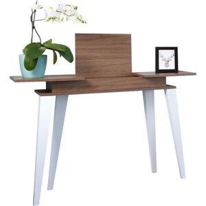Tmavě hnědý konzolový stolek TemaHome Prism