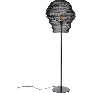 Černá stojací lampa White Label Lena