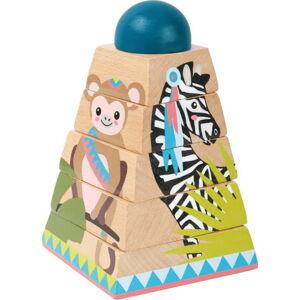Dětské dřevěné 3D puzzle Legler Jungle