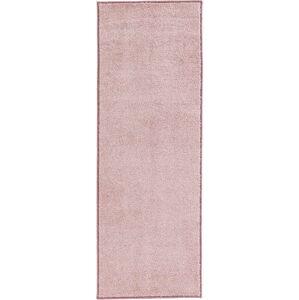Růžový běhoun Hanse Home Pure, 80x400cm