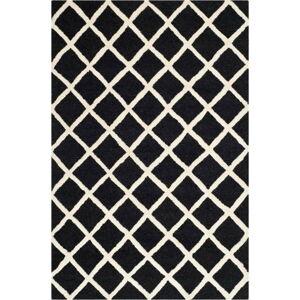 Černý vlněný koberec Safavieh Sophie, 121x182cm