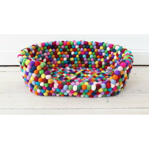 Kuličkový vlněný pelíšek pro domácí zvířata Wooldot Ball Pet Basket Multi, 60 x 40 cm