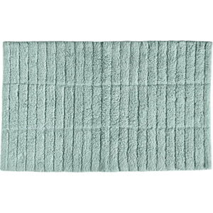 Světle zelená bavlněná koupelnová předložka Zone Tiles,80x50cm
