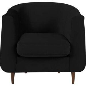Černé sametové křeslo Kooko Home Glam