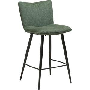 Zelená barová židle s ocelovými nohami DAN-FORM Join, výška 93 cm