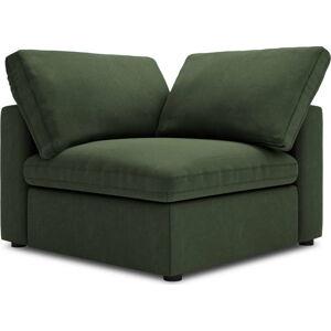 Tmavě zelená oboustranná rohová část modulární pohovky Windsor & Co Sofas Galaxy